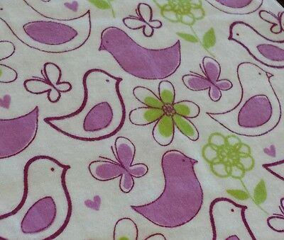 Cute purple bird Nursing pillow cover,  fits boppy pillow
