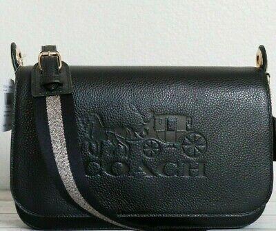 New Authentic Coach F72703 Jes Messenger Shoulder Bag Handbag Purse Black Gold