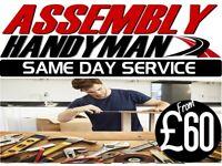 £60 IKEA FLAT PACK ASSEMBLY FURNITURE HANDYMAN SAME DAY WARDROBE BED OFFICE MAN AND VAN STREATHAM