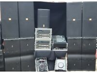 jbl vertec system 12k 24k sound system hire,crown 12k amps mixer radio mic