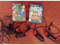 PLAYSTATION 2 GAME - 2 BUZZER GAMES WITH BUZZERS