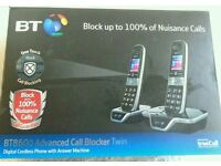 NEW BT 8600 Cordless Home Phone with Answer Machine - Twin Handset Pack, Black