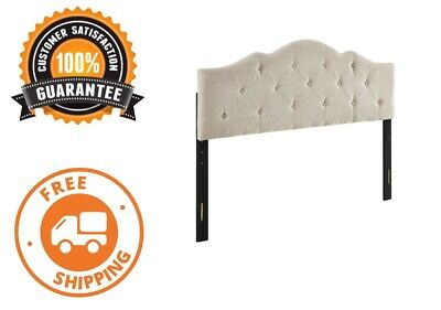 Rounded Upholstered Headboard Padded Bed Tufted Full Queen California King California King Upholstered Bed
