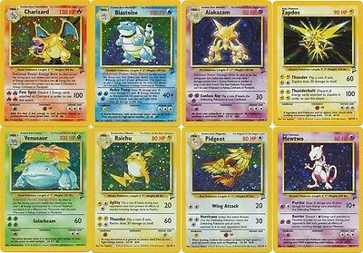 Pokemon cards Base set 2 RARE HOLO Blastoise, Alakazam, Charizard, Venusaur etc