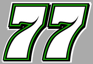 numero 77 racing nascar moto gp moto cross 12cmx8 5cm autocollant sticker nu017 ebay. Black Bedroom Furniture Sets. Home Design Ideas