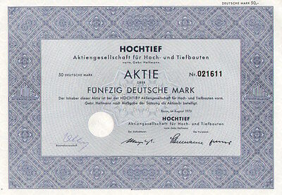 HOCHTIEF AG - für Hoch und Tiefbauten, vorm. Gebr. Helmann, Essen 1973