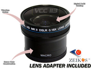 Super Fisheye .18x Lens for Nikon D5000 D5100 D3000 D7000 18-55MM 24MM 50MM 28MM