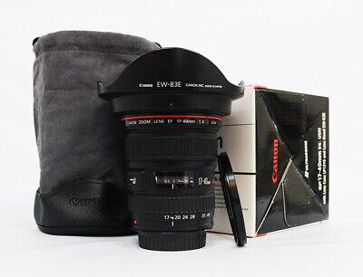 """# Canon EF 17-40mm f/4 L USM Lens  Wide Angle Zoom AF Lens """"Mint"""" S/N 1593164"""