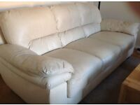 Leather 3 Seater Sofa in very good clean sofa was expensive heavy quality leather Can deliver