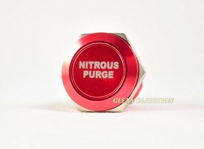 RED 19MM PURGE NITROUS OXIDE NOS Billet Momentary activation Push Button NX Nitrous Purge Button
