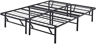 Platform King Size Bed Frame for Mattress 14