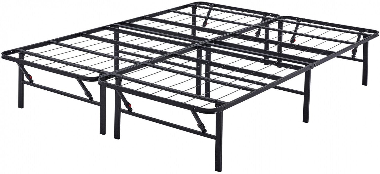 Platform Queen Size Bed Frame 14 Inch Mattress Foldable Meta