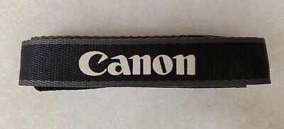 Vintage Canon Camera Adjustable Neck Strap - Black Gray - New