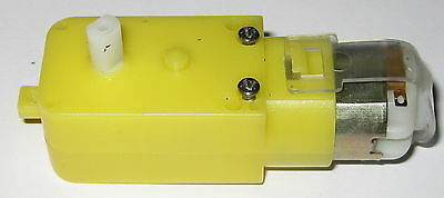 3 Vdc Gearhead Motor - 200 Rpm - Motorized Toy Robot High Torque Dc Motor