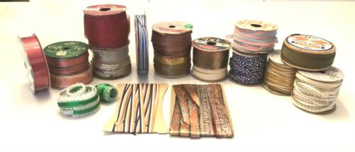 Lot of 17 Antique/Vintage Cellophane & Curling Ribbon...5/10 Cent NEW OLD STOCK