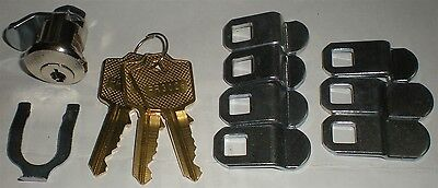 Lock Cylinder Univeral Latch Body Mail Box Lock With Spring Mounting Clip New