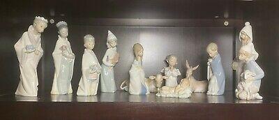 Lladro Nativity Set Children's Retired 12 Pcs