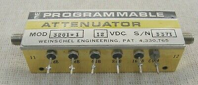 Weinschel 3201-1 Programmable Attenuator 50 Ohm Freq. Dc-2.0 Ghz Sma