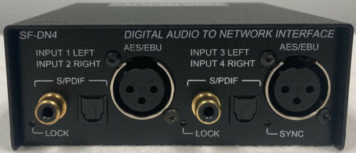 RDL SN-DN4 Dante interface with two stereo digital inputs (AES/EBU or S/PDIF)