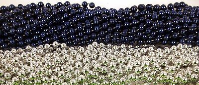 48 Blue Silver Cowboys Mardi Gras Beads Super bowl Tailgate Football Party Favor](Super Bowl Favor)