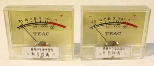 TEAC A-400 Pair Working VU Meters-Vintage Cassette Deck