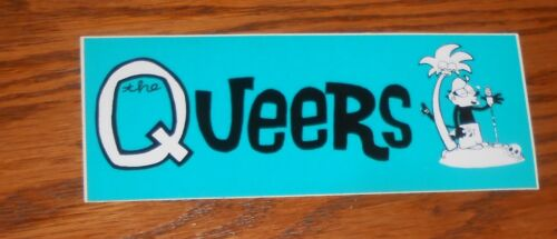 The Queers Bumper Sticker Decal Promo 5.5x2