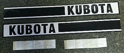 Kubota L225 Tractor Decal Set