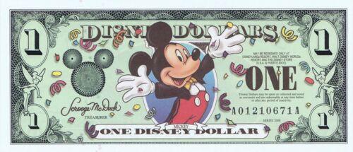 2000 AA Disneyland $1 MINT Millennium Mickey Disney Dollars Dollar A01210671A