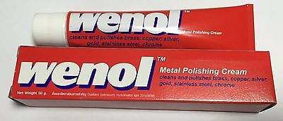 BEST OF WENOL METAL POLISH CLEANER ALL FOR BRASS COPPER STAINLESS STEEL