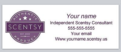 Personalized Address Labels Scentsy Buy 3 Get 1 Free Xco 951