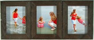 4x5 4x6 5x7 8x10 barnwood rustic weathered picture photo frame triple hinged new. Black Bedroom Furniture Sets. Home Design Ideas