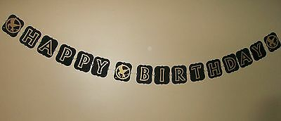 Hand Crafted Hunger Games inspired Happy Birthday Banner (510B)
