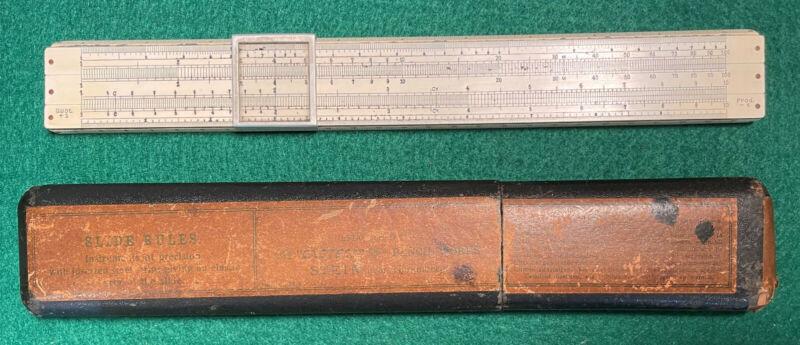 Antique Wood and Celluloid A. W. Faber Slide Rule D. R. P.