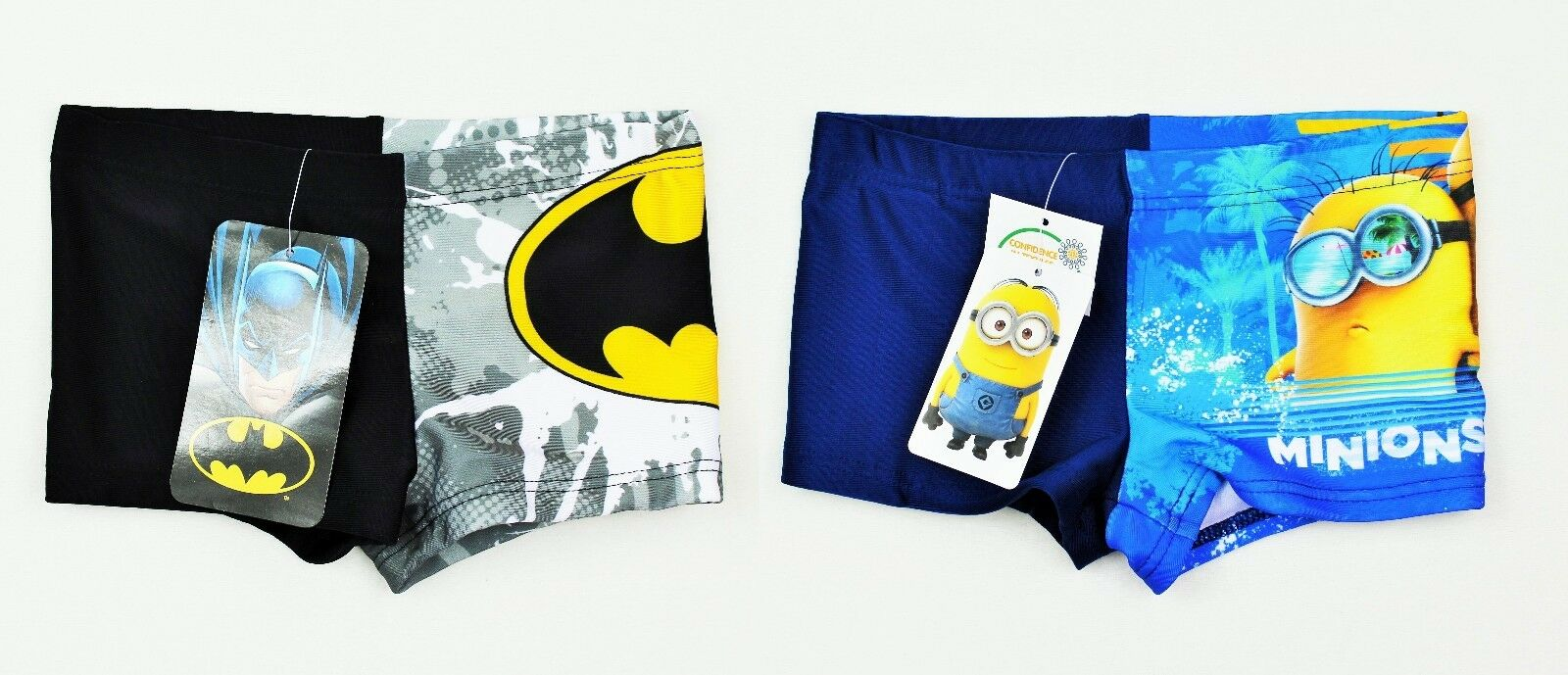 NEU Batman o. Minions Jungen Shorts / Schwimmhose / Hose / Badehose - Gr. 98/104