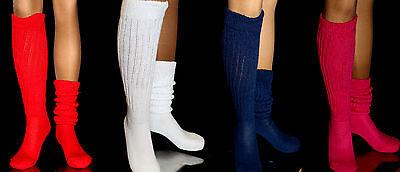 Long Large Slouch Scrunchie to Knee Socks Heavy Warm Hooters Uniform Women's - Slouch Socks