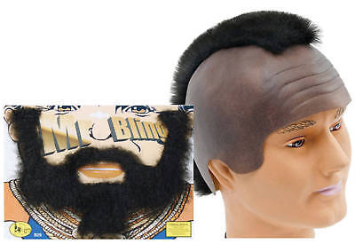 Mr T WIG Headpiece Mohican & BEARD A Team Fancy Dress