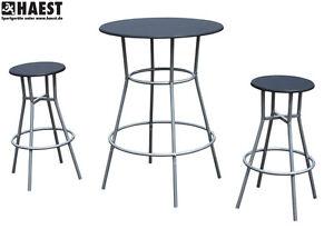 bistrotisch mit zwei st hlen bartisch barst hle barhocker bar set barm bel ebay. Black Bedroom Furniture Sets. Home Design Ideas