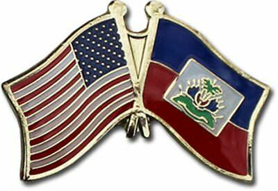 Wholesale Pack of 50 USA American Haiti Flag Hat Cap lapel Pin