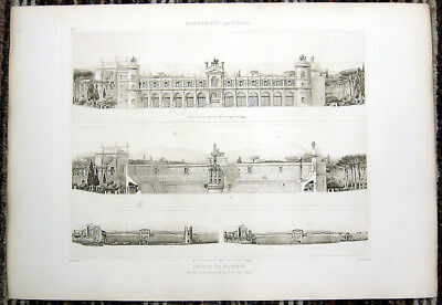 180 ~ Rome CIRCUS MAXIMUS CHARIOT RACING STADIUM ~ 1910 Architecture Art Print