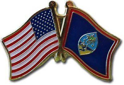 Wholesale Pack of 50 USA American Guam Flag Hat Cap lapel Pin