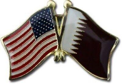 Wholesale Pack of 50 USA American Qatar Flag Hat Cap lapel Pin