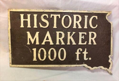 Vintage Cast Iron Historical Marker Sign South Dakota Automobilianna