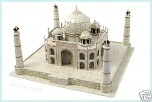 TAJ MAHAL 3D MODEL BUILD IT JIGSAW PUZZLE  ~ 87 PIECES, NO GLUE OR TOOLS NEEDED