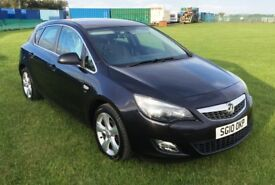2010 Vauxhall Astra 1.4 SRi 5 door hatch, metallic black, mot 2019, air con, alloys, sports seats