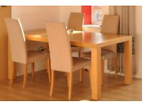 Heal's solid oak dining table for sale (not including chairs)