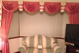 Double width curtains for sale (can be sold without pelmet)