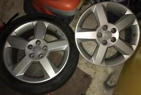 Pair of Vauxhall Alloy Wheels