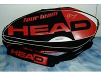 Andy Murray, HEAD Tennis Bag, Takes All Your Kit, Cost Over £100 When New.
