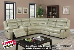 MADNESS SALE  BRAND NEW Leather Recliner Sectional $1999