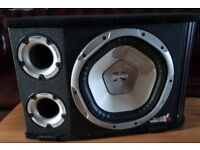 CAR ACTIVE SUBWOOFER SONY 1200 WATT 12 INCH BASS BOX WITH VIBE BUILD IN AMPLIFIER SUB WOOFER AMP